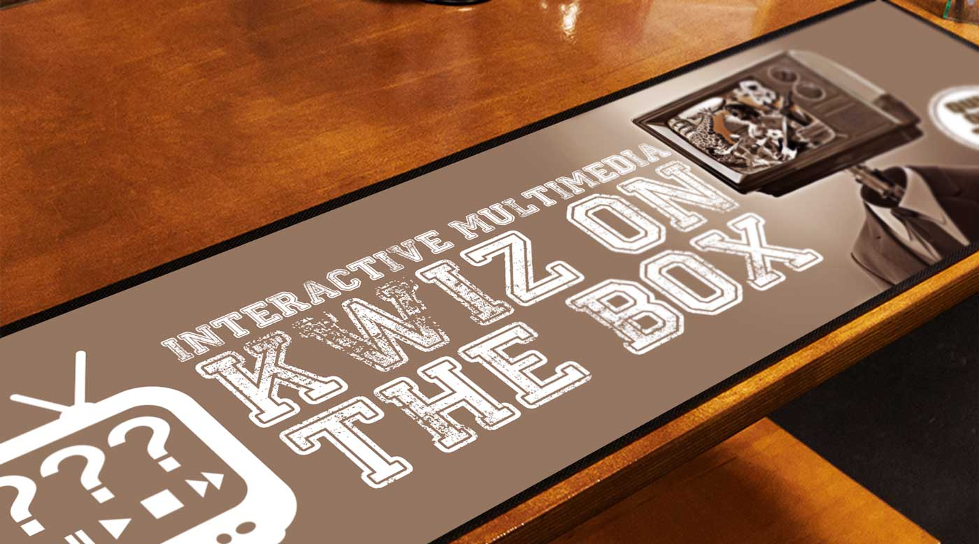 Kwiz on the box bar runner northview creative