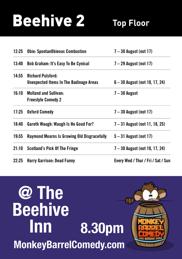 39013 THE BEEHIVE INN EDIN COMEDY CLUB POS 3